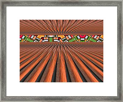 Zoned Framed Print by Wendy J St Christopher