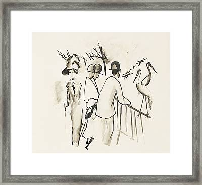 Zoological Garden II Framed Print by August Macke