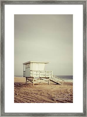 Zuma Beach Lifeguard Tower #3 Malibu California Framed Print by Paul Velgos