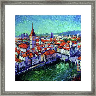 Zurich View Framed Print by Mona Edulesco