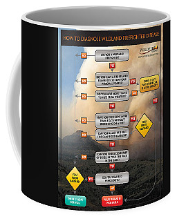Coffee Mug featuring the photograph Diagnosing Wildland Firefighter Disease by Bill Gabbert