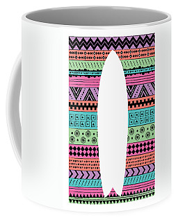 80s Fish Surfboard Coffee Mug by Susan Claire