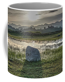 Coffee Mug featuring the photograph A Yellowstone Sunrise And Hazy Morning Ridges by Bill Gabbert