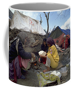Coffee Mug featuring the photograph Camping In Iraq by Travel Pics