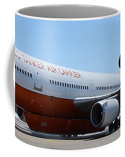 Coffee Mug featuring the photograph Dc-10 Air Tanker At Rapid City by Bill Gabbert