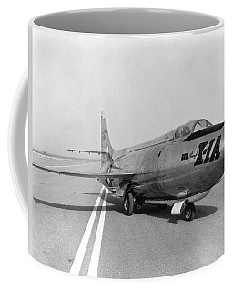Coffee Mug featuring the photograph First Supersonic Aircraft, Bell X-1 by Science Source