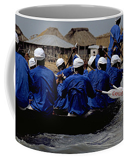 Coffee Mug featuring the photograph Ganvie - Lake Nokoue by Travel Pics