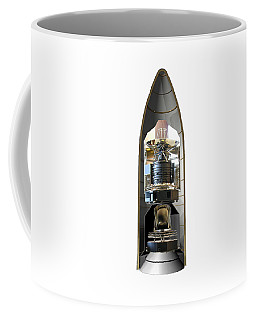 Coffee Mug featuring the photograph Herschel & Planck Launch Configuration by Science Source