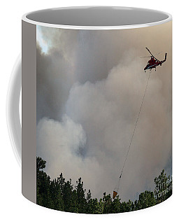 Coffee Mug featuring the photograph K-max Helicopter On Myrtle Fire by Bill Gabbert