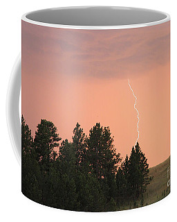 Coffee Mug featuring the photograph Lighting Strikes In Custer State Park by Bill Gabbert