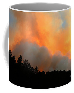 Coffee Mug featuring the photograph Myrtle Fire Near Rifle Pit Road by Bill Gabbert