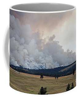 Coffee Mug featuring the photograph Myrtle Fire West Of Wind Cave National Park by Bill Gabbert