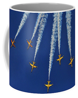 Coffee Mug featuring the photograph Republic Of Korea Air Force Black Eagles by Science Source