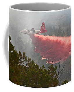 Coffee Mug featuring the photograph Tanker 07 On Whoopup Fire by Bill Gabbert