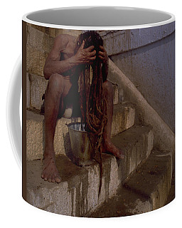 Coffee Mug featuring the photograph Varanasi Hair Wash by Travel Pics