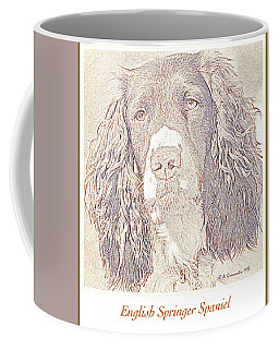 Coffee Mug featuring the photograph English Springrer Spaniel With Sad Eyes by A Gurmankin