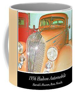 Coffee Mug featuring the photograph 1936 Hudson, Classic Automobile by A Gurmankin