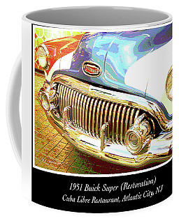 Coffee Mug featuring the photograph 1951 Buick Super Resoration by A Gurmankin