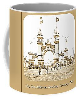 Coffee Mug featuring the photograph City Gate, Millerntor, Hamburg, Germany, 1903 by A Gurmankin