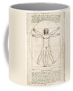 The Proportions Of The Human Figure Coffee Mug by Leonardo Da Vinci