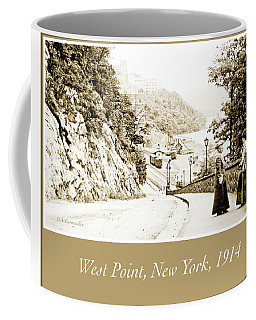 Coffee Mug featuring the photograph West Point, New York, 1914, Vintage Photograph by A Gurmankin