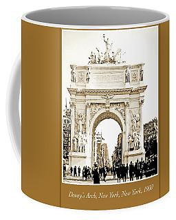 Coffee Mug featuring the photograph Dewey's Arch, New York, 1900, Vintage Photograph by A Gurmankin