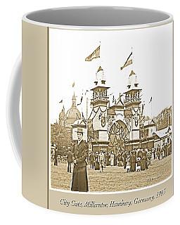 Coffee Mug featuring the photograph Festival Place, Millerntor, Hamburg, Germany, 1903 by A Gurmankin