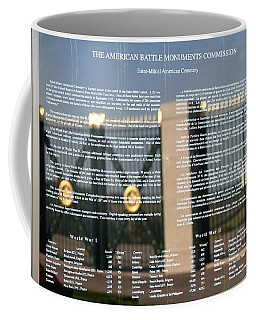 Coffee Mug featuring the photograph American Battle Monuments Commission by Travel Pics