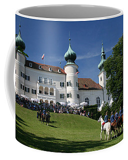 Coffee Mug featuring the photograph Artstetten Castle In June by Travel Pics