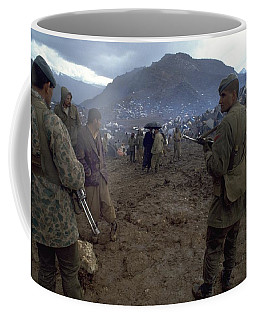 Coffee Mug featuring the photograph Border Control by Travel Pics