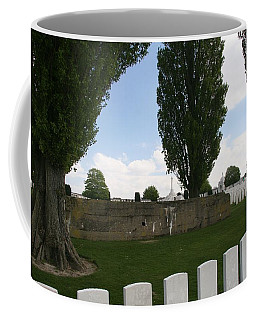 Coffee Mug featuring the photograph German Bunker At Tyne Cot Cemetery by Travel Pics