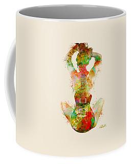 Guitar Siren Coffee Mug by Nikki Smith