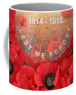 Coffee Mug featuring the photograph Lest We Forget - 1914-1918 by Travel Pics