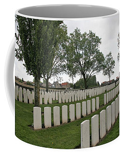Coffee Mug featuring the photograph Messines Ridge British Cemetery by Travel Pics