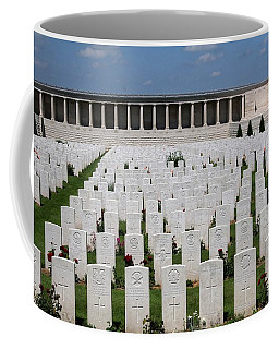Coffee Mug featuring the photograph Pozieres British Cemetery by Travel Pics