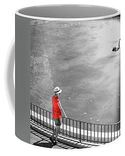 Red Shirt, Black Swanla Seu, Palma De Coffee Mug by John Edwards