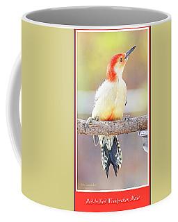 Coffee Mug featuring the photograph Redbellied Woodpecker, Male, Animal Portrait by A Gurmankin