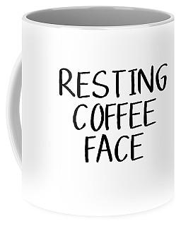 Resting Coffee Face-art By Linda Woods Coffee Mug by Linda Woods