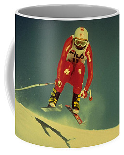 Coffee Mug featuring the photograph Skiing In Crans Montana by Travel Pics