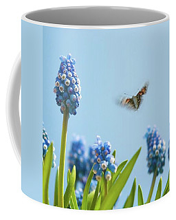 Something In The Air: Peacock Coffee Mug by John Edwards
