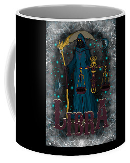 Coffee Mug featuring the drawing The Scale - Libra Spirit by Raphael Lopez