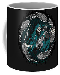Coffee Mug featuring the drawing Underworld Archer Of Death by Raphael Lopez