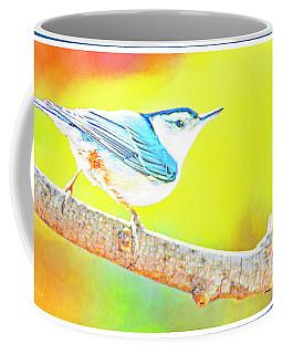 Coffee Mug featuring the photograph Whitebreasted Nuthatch, Digital Art by A Gurmankin