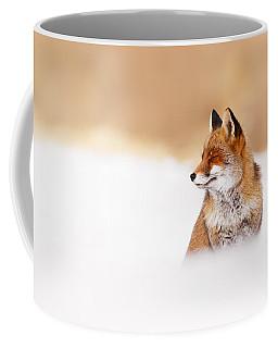 Zen Fox Series - Zen Fox In Winter Mood Coffee Mug by Roeselien Raimond