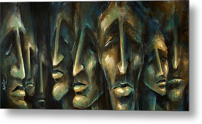 ' Jury Of Eight ' Metal Print by Michael Lang