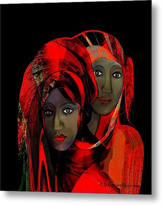 000 - Colour Of Passion Metal Print by Irmgard Schoendorf Welch