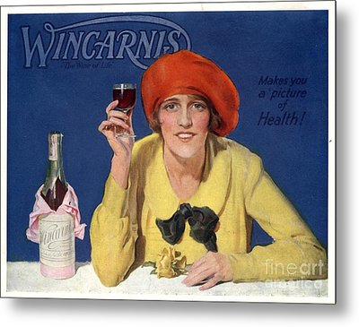 1910s Uk Wincarnis Wine Fortified Metal Print by The Advertising Archives