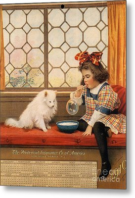 1910s Usa Dogs Prudential Insurance Metal Print by The Advertising Archives
