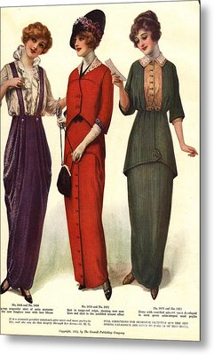 1910s Usa Womens Metal Print by The Advertising Archives
