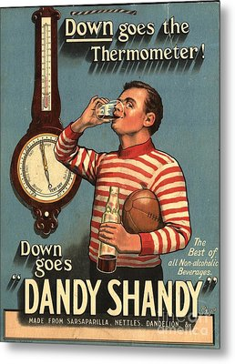 1920s Uk Dandy Shandy Sarsaparilla Metal Print by The Advertising Archives